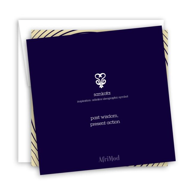 Sankofa – blank minimalist greeting card