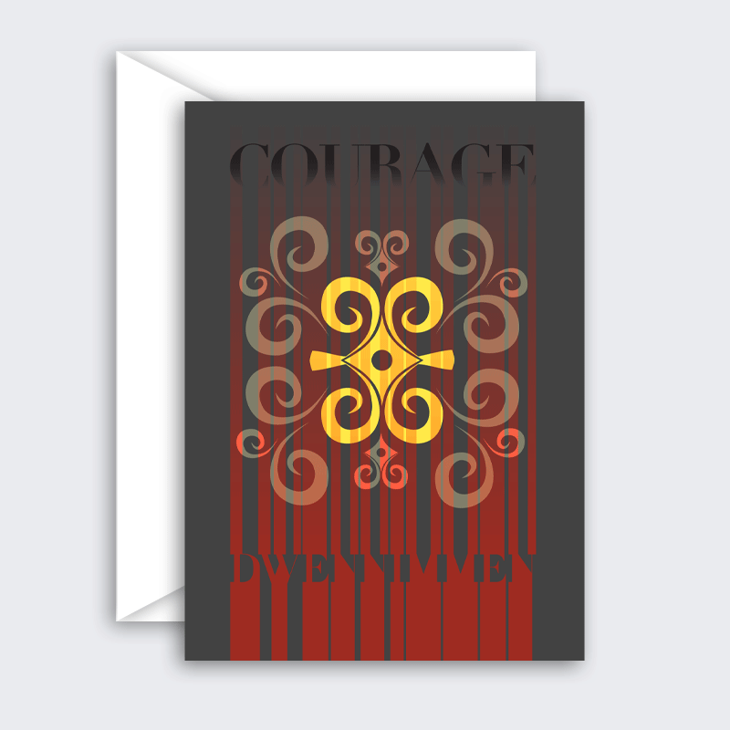 Courage – single or set of 8 blank greeting cards