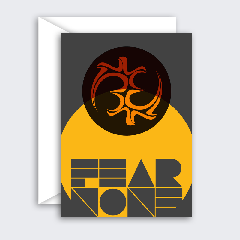 Fear None (Rising Sun) – single or set of 8 blank greeting cards