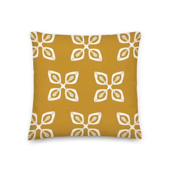 Throw Pillow – Golden Cowrie Shells