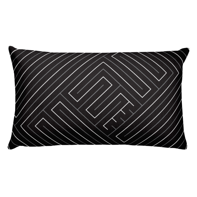 Maze of Life- Lumbar Throw Pillow