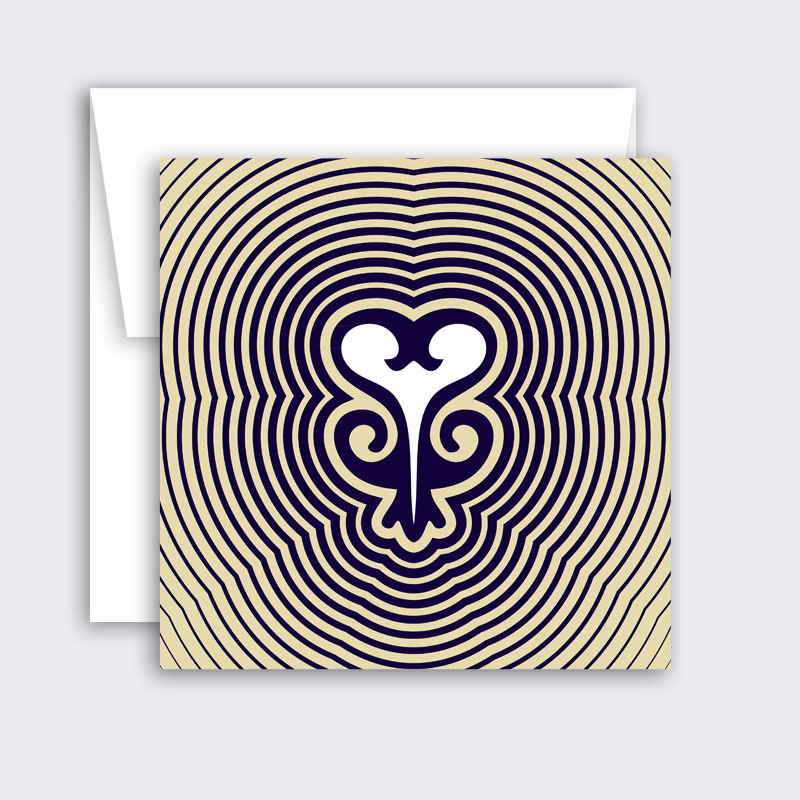 Sankofa – single or set of 8 minimalist greeting cards