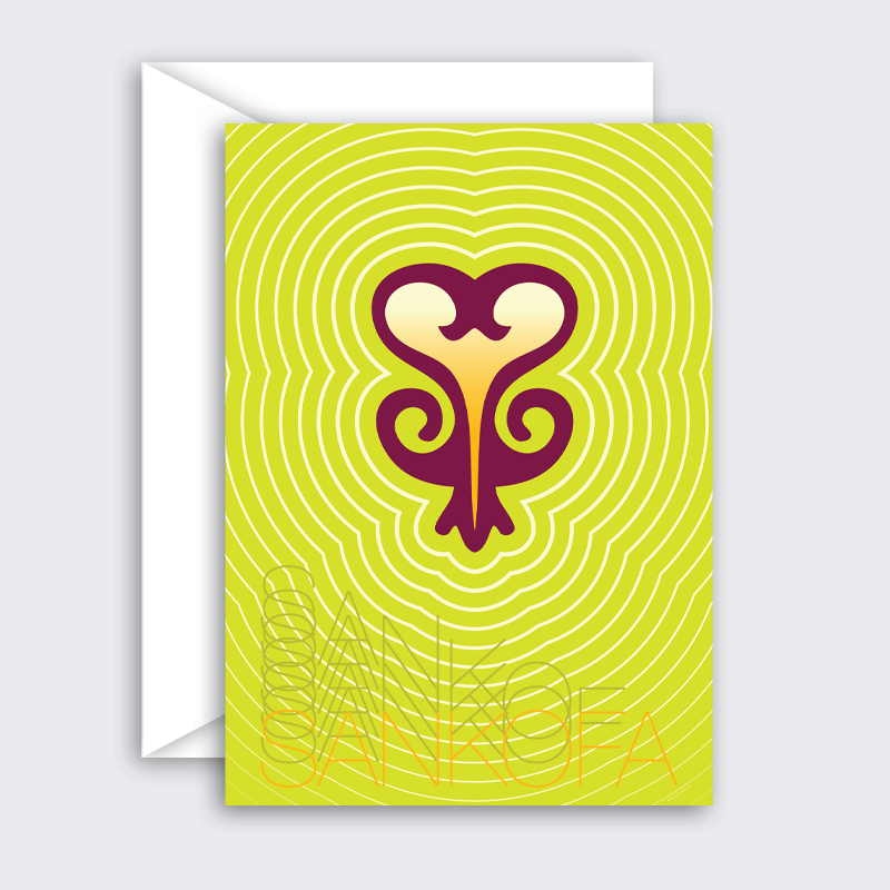 Sankofa – encouragement greeting card