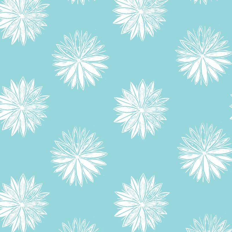 Sky Flowers – 18in Throw Pillow
