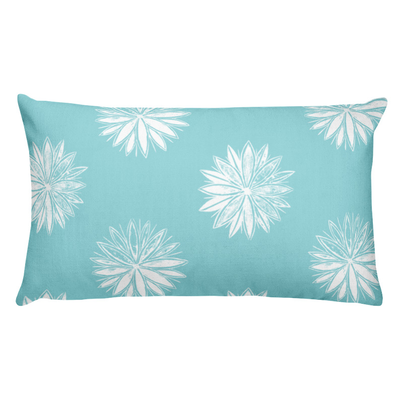 Sky Flowers – Lumbar Throw Pillow