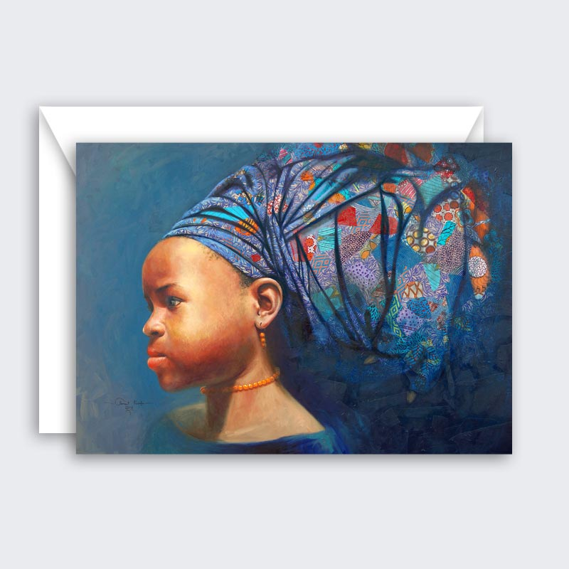 Determination of The African Girl Child – single or set of 8 blank greeting cards