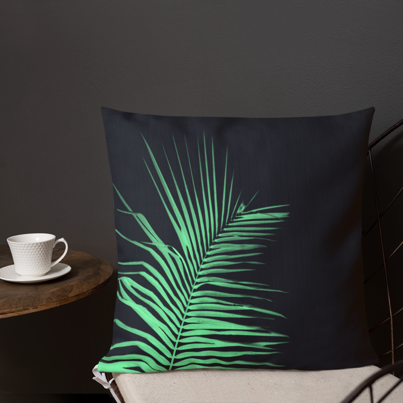 Palm Leaf Throw Pillow – Palm x-ray I