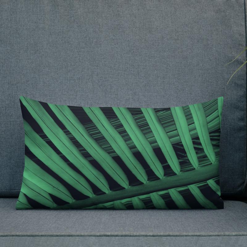 Palm Leaf II – Lumbar Throw Pillow