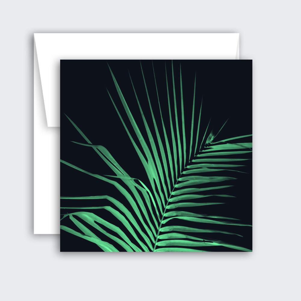 Tropical Palm Leaf Card