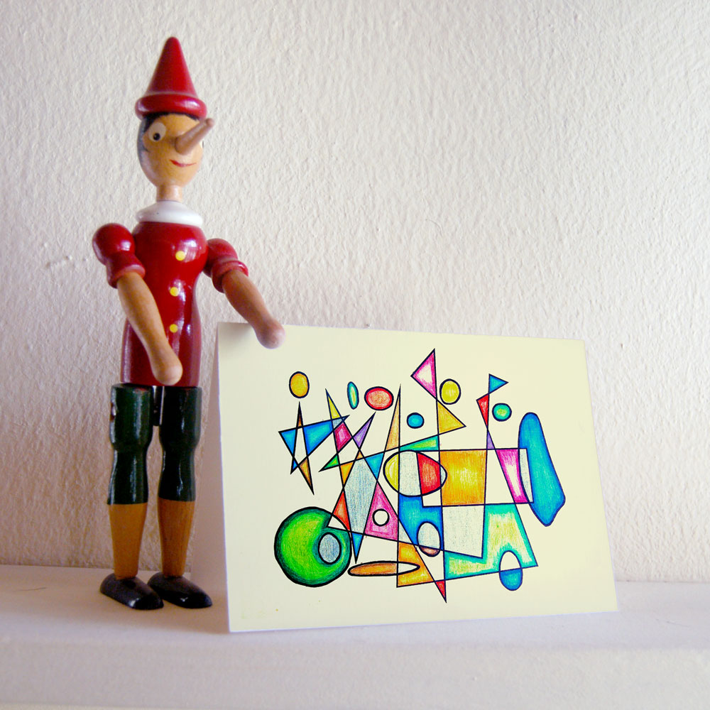 Vintage Ride (abstracted motion) – fanciful greeting card