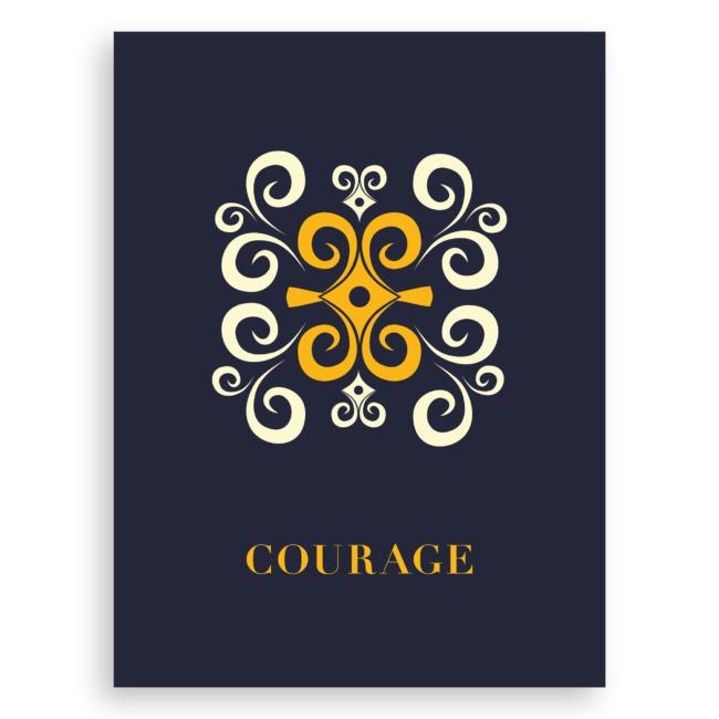 Adinkra-Inspired Graphic Print – Courage