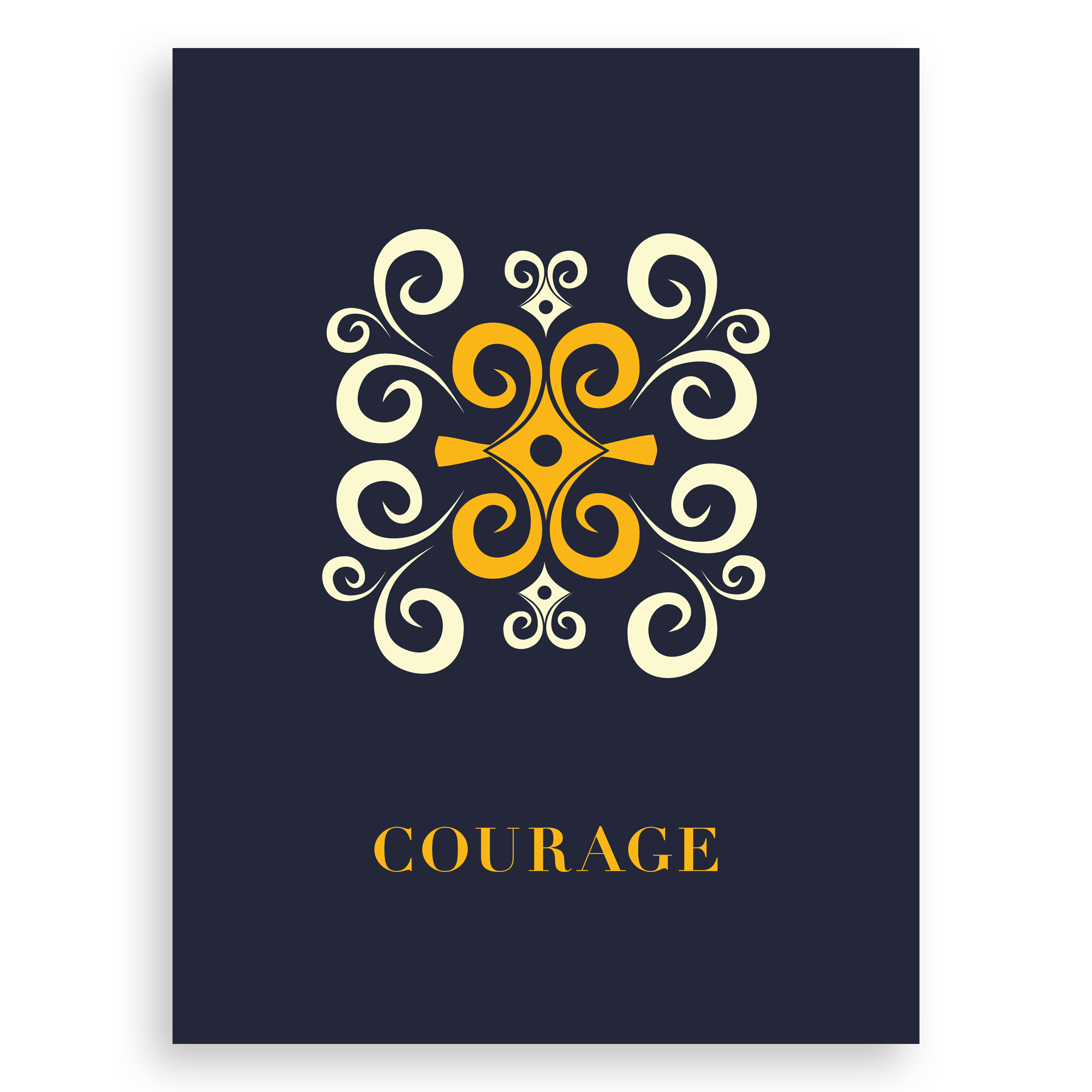 Adinkra-Inspired Graphic Print – Courage