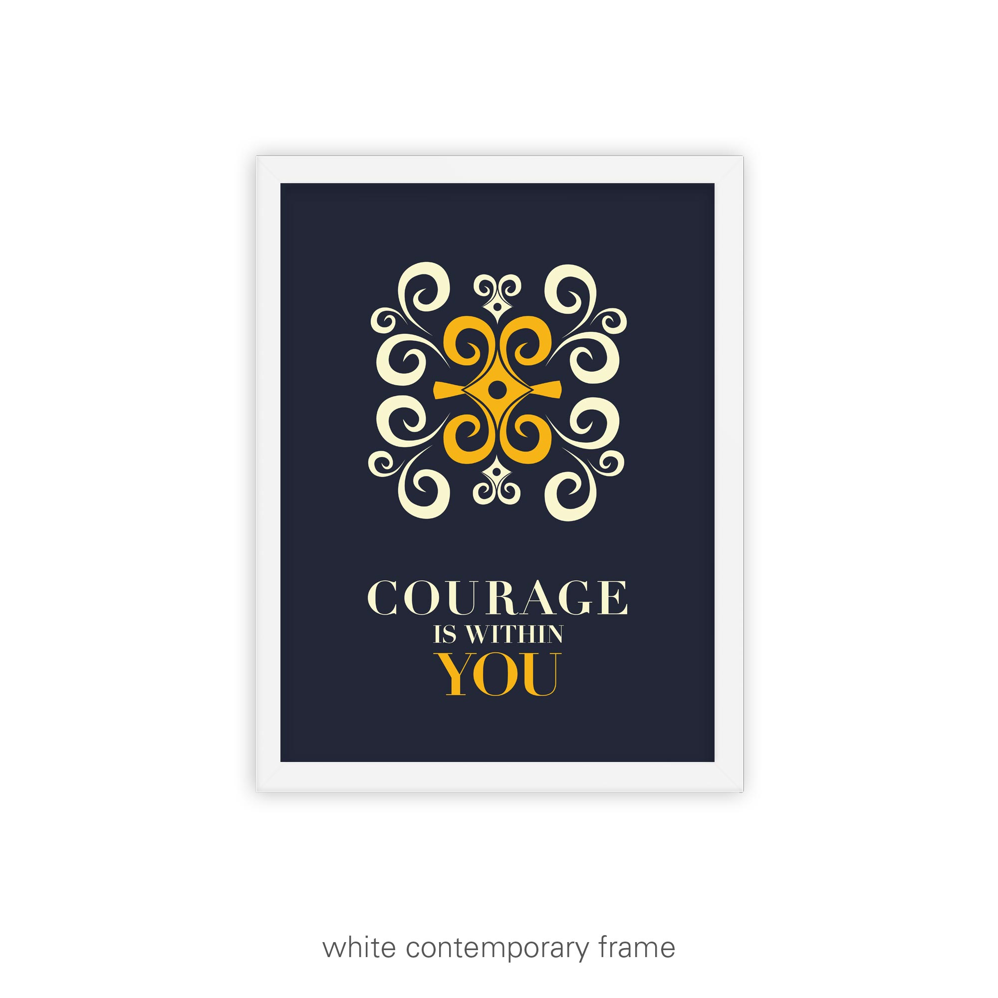 African Inspirational Graphic Print – Courage is Within You
