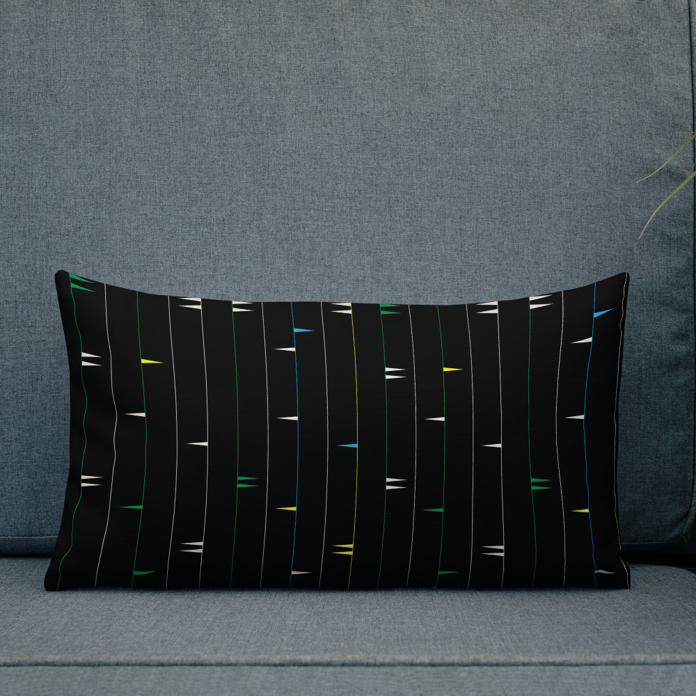 Staccato in Colors Lumbar Pillow – Fulani-inspired design