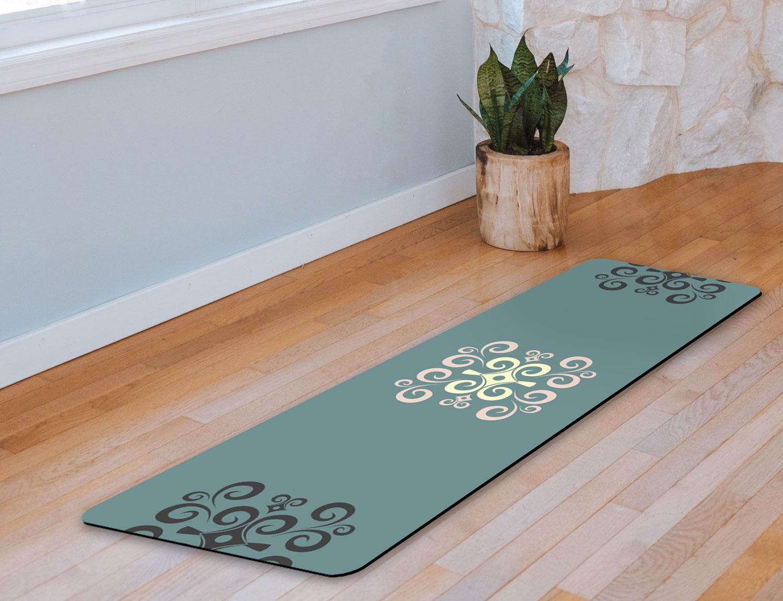 Yoga Mat – Strength & Humility (seafoam)