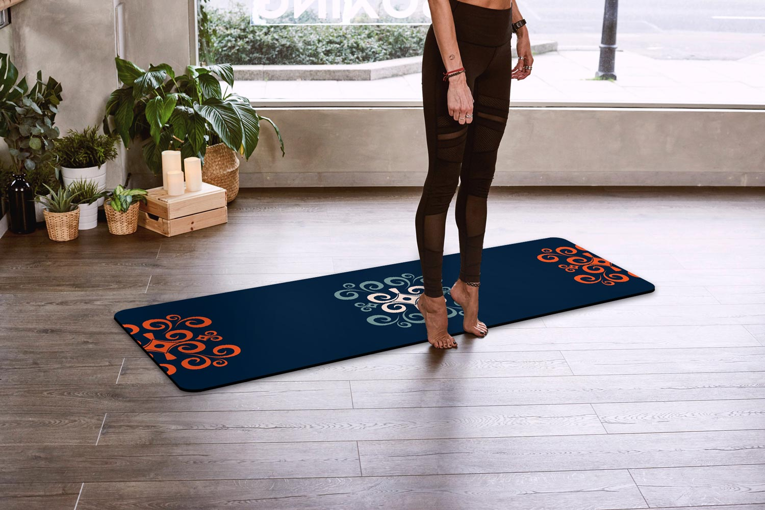Strength & Humility • African-inspired Yoga Mat