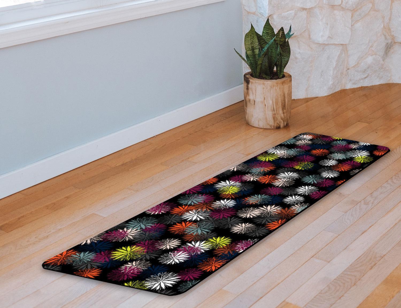 Dark Floral Yoga Mat