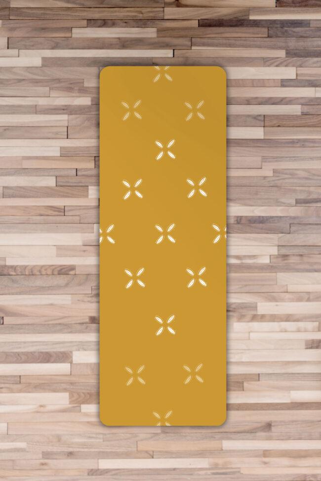 Cowrie Yoga Mat in Mustard