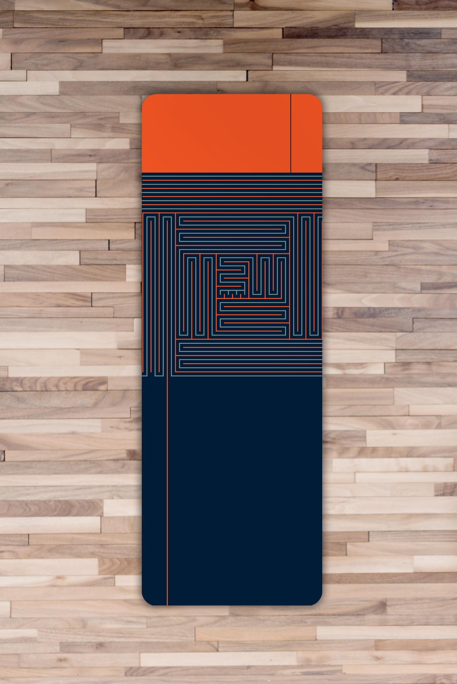 Yoga Mat – Creativity, Flexibility & Agility (navy & orange)