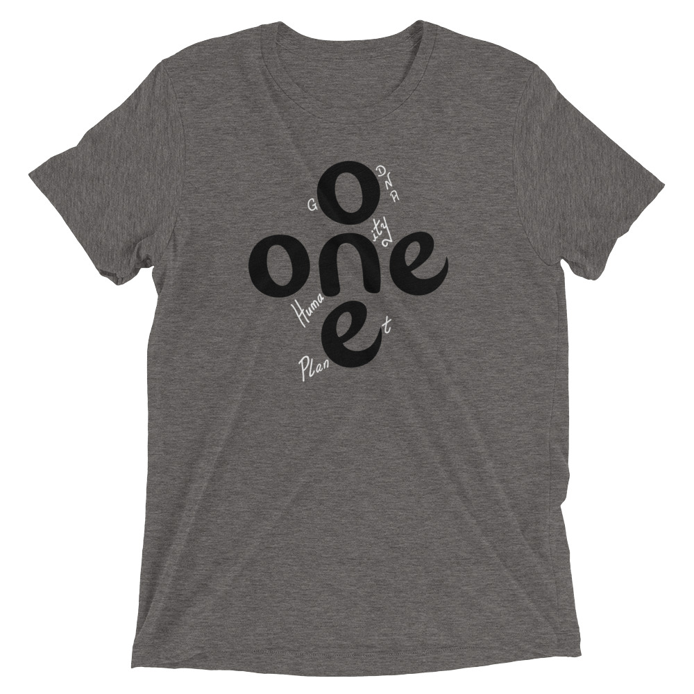 The ONE Project | unisex tshirt with white text