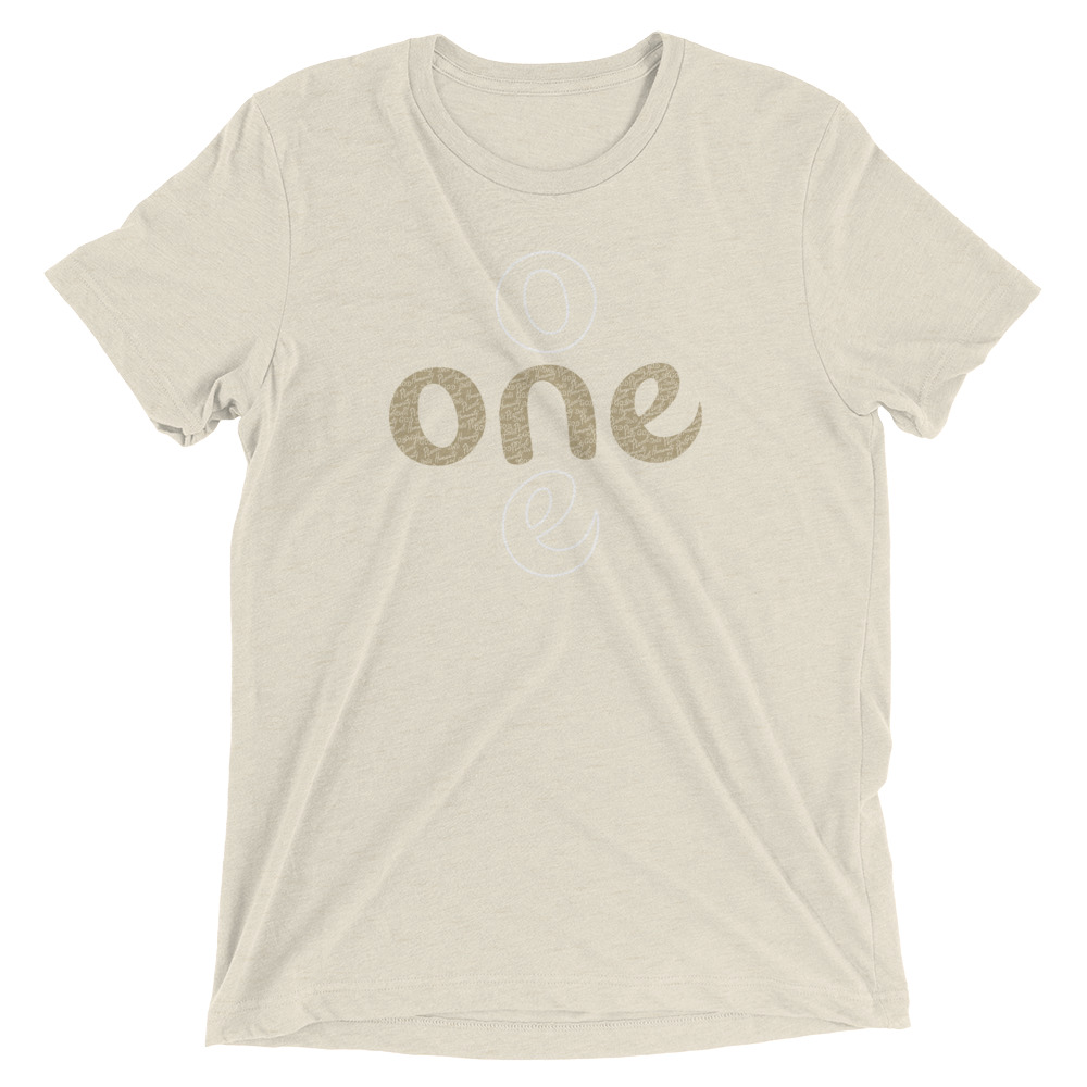 The ONE Project | unisex tshirt (gold)