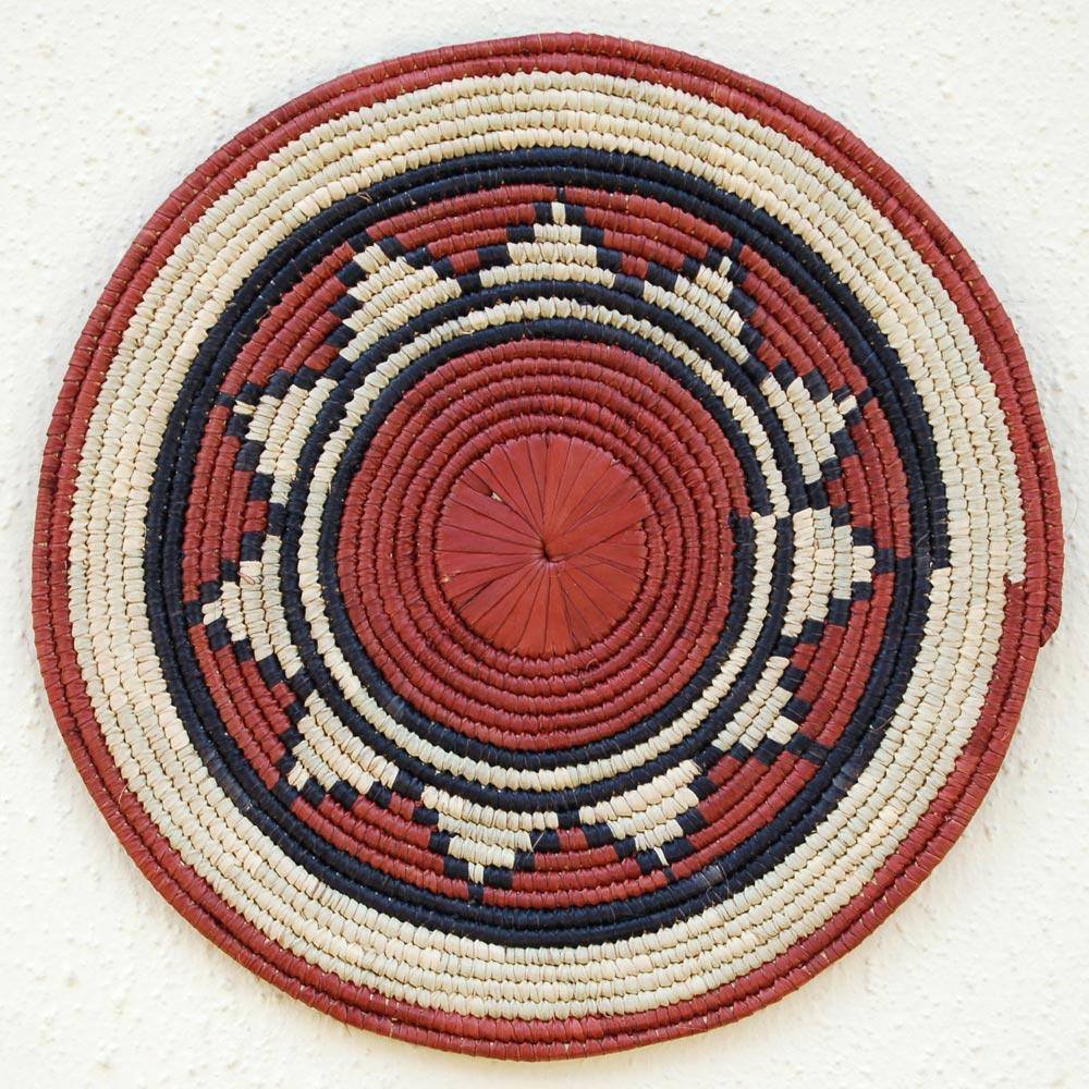 African Flat Basket ~12in