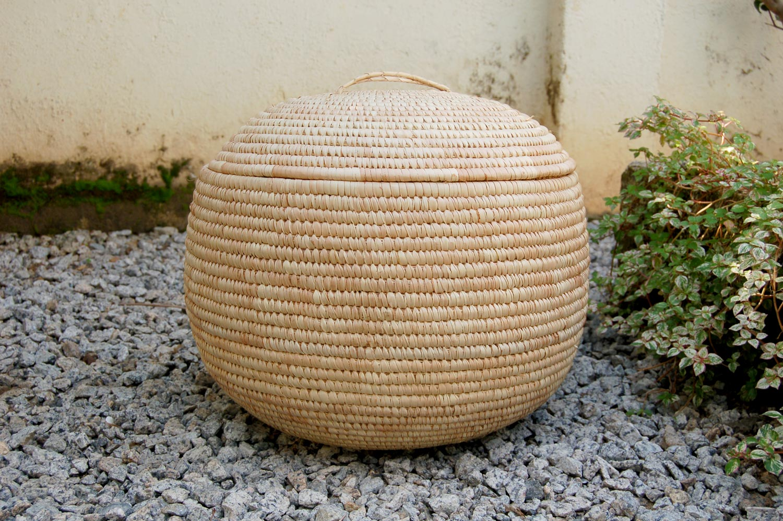 AfriMod Natural (Africa-Inspired Storage Basket ~19in)