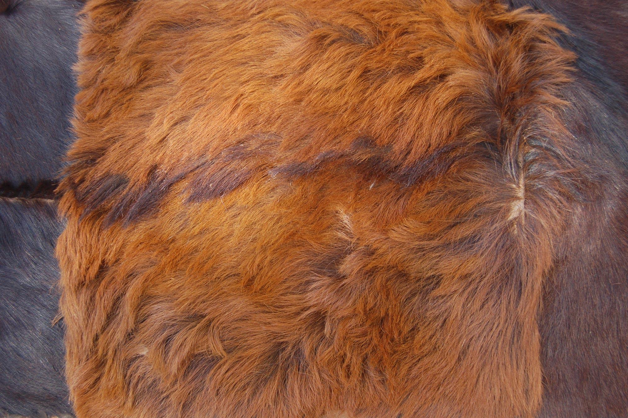 Vintage Patchwork Goat Skin / Goat Hide Rug