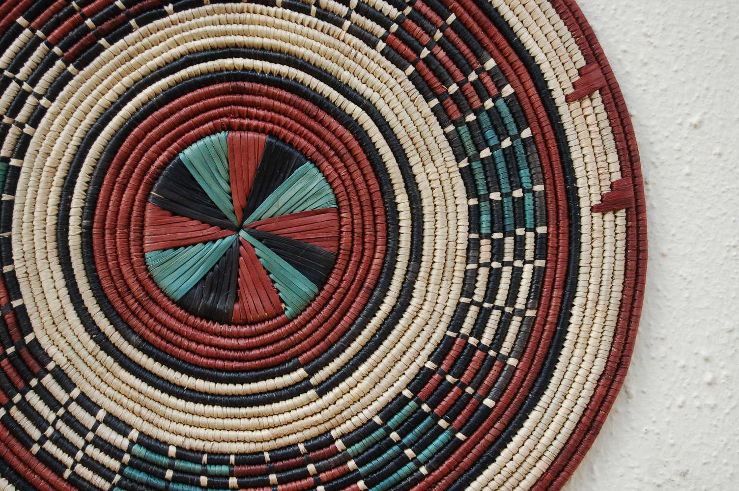 African Flat Basket ~14in