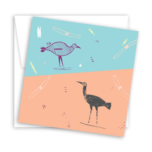 Colorful Illustrated Blank Notecard Set (set of 10)