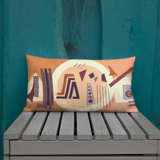 Abstract Art Lumbar Throw Pillow