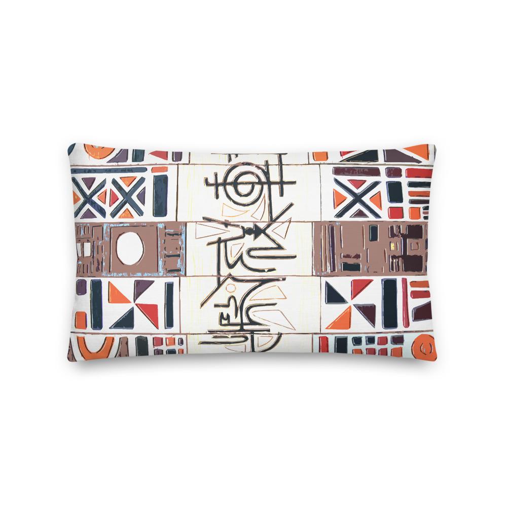 African Abstract 'Graffiti' Style Art Lumbar Throw Pillow