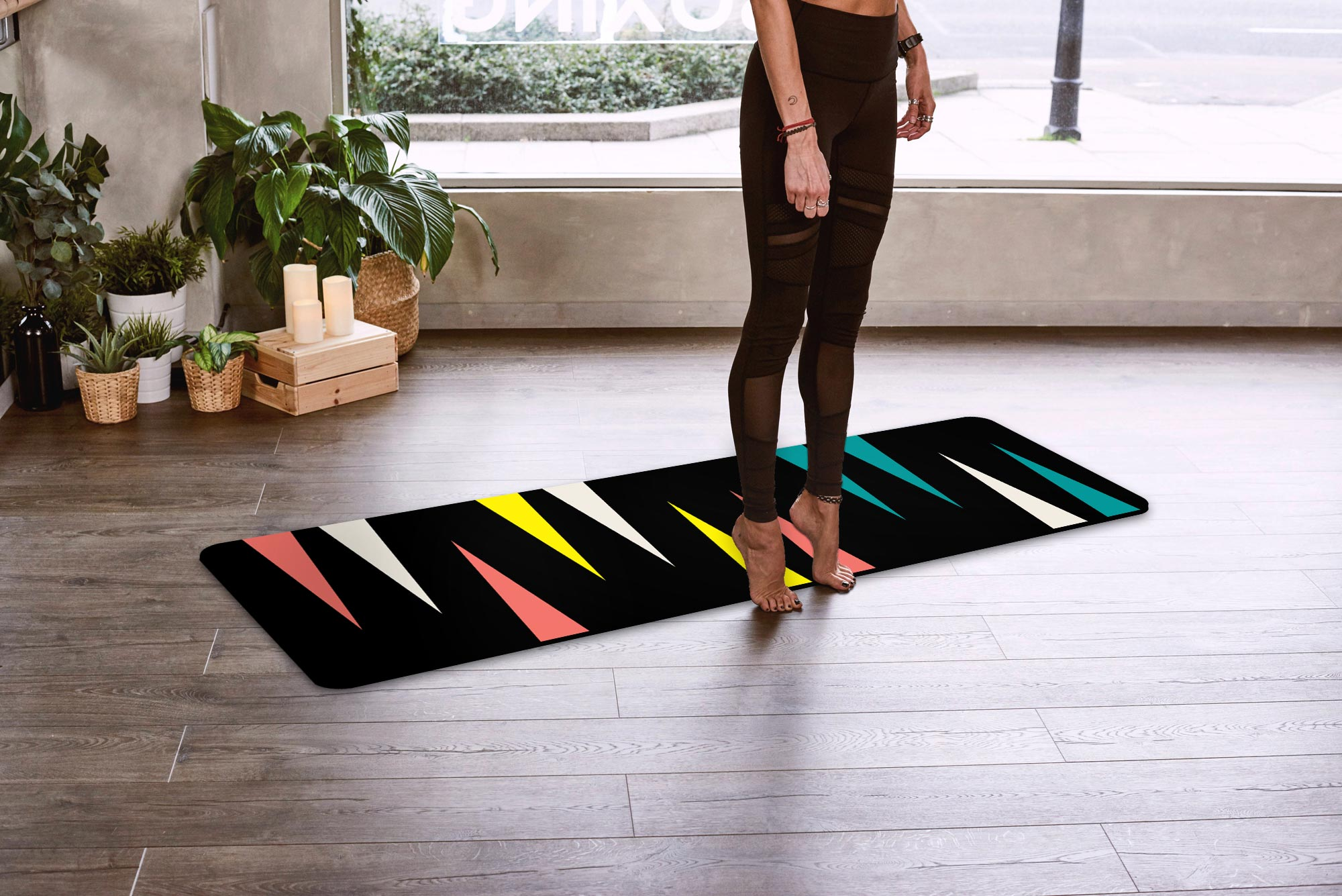 Yoga Mat – Shards of Color