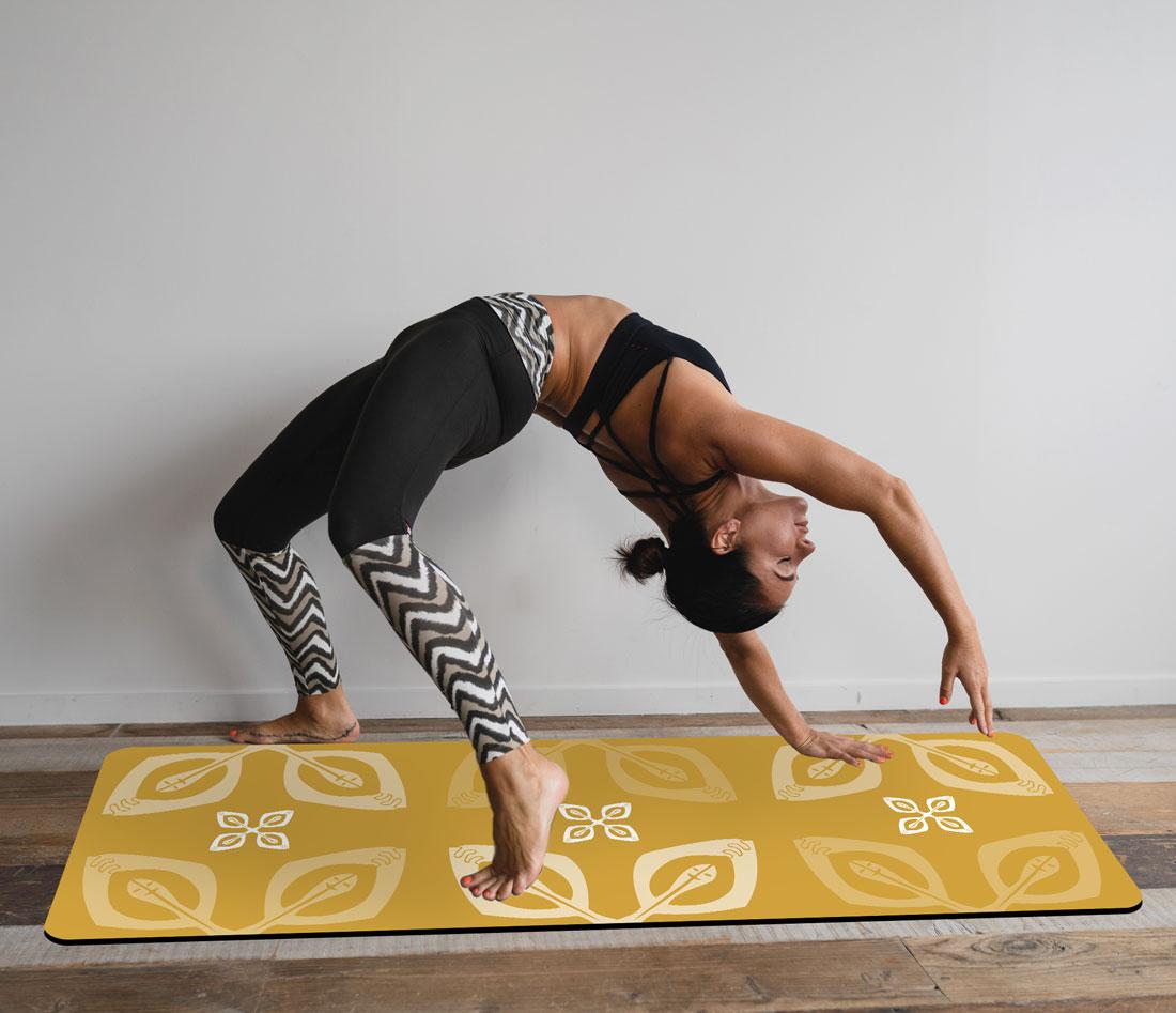 Mustard Yoga Mat – Happy Together