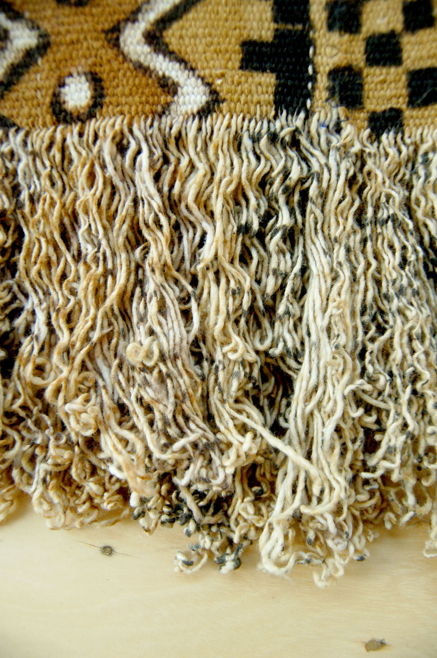 "Hand-spun Cotton Bogolanfini (""Mud Cloth"") Throw"