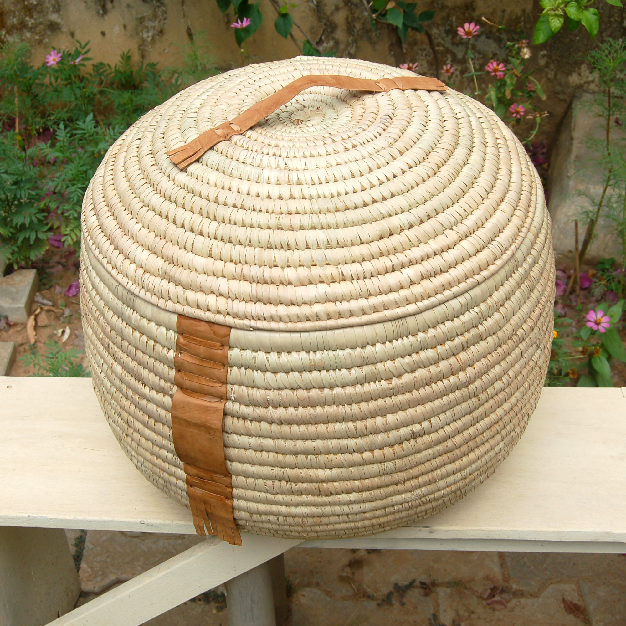 AfriMod Natural #2: SouthWest Flair – Large Lidded Storage Basket