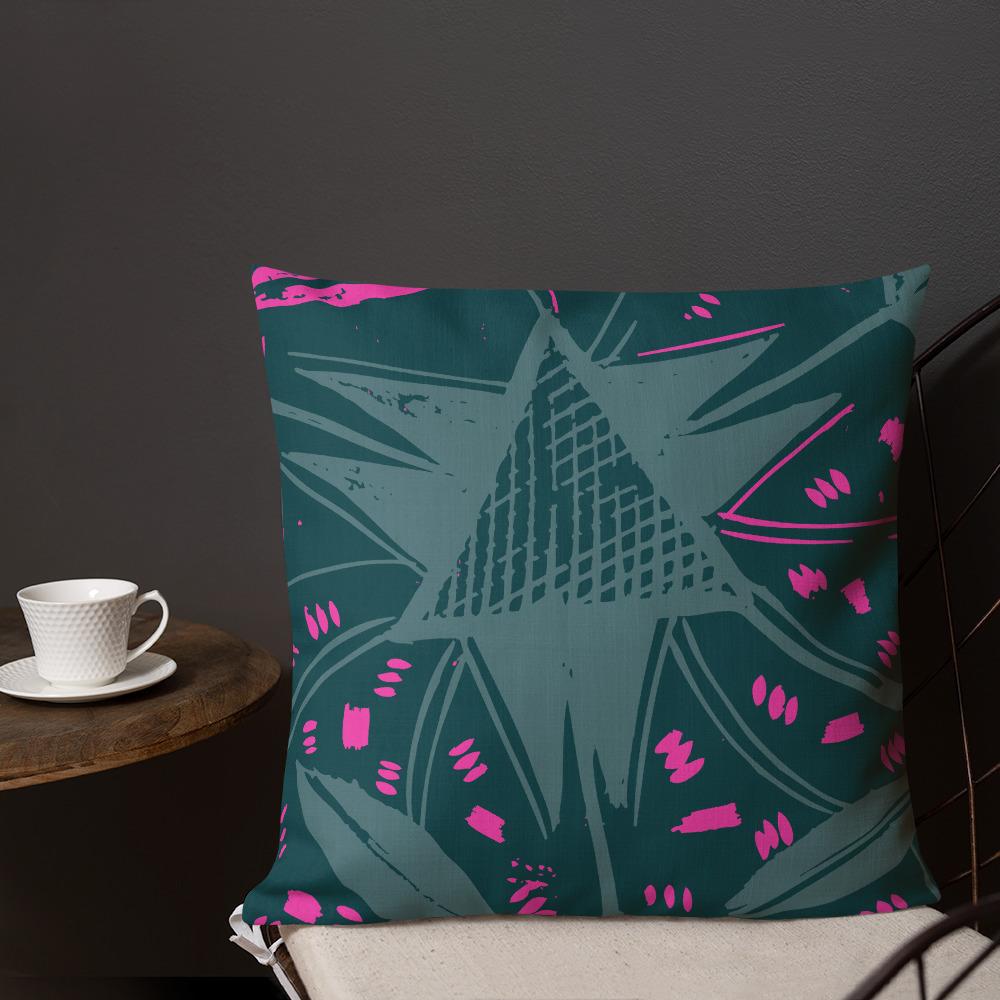 Calabash Berry – Abstract African Print Throw Pillow