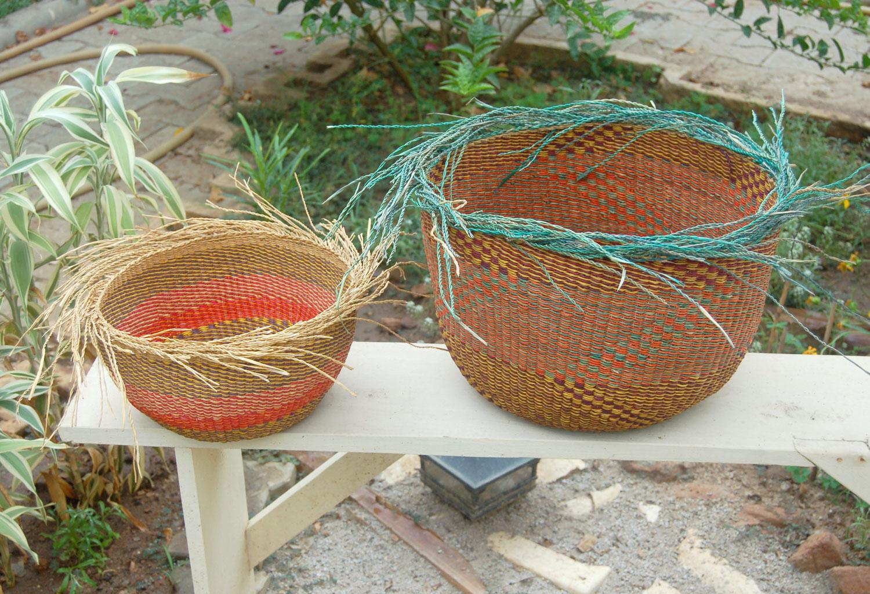AfriMod Bird's Nest Planter Basket Set #3