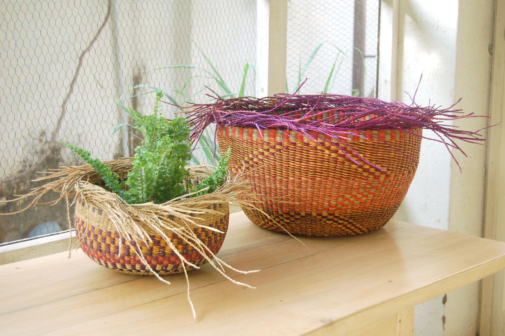 AfriMod Bird's Nest Planter Basket Set #4