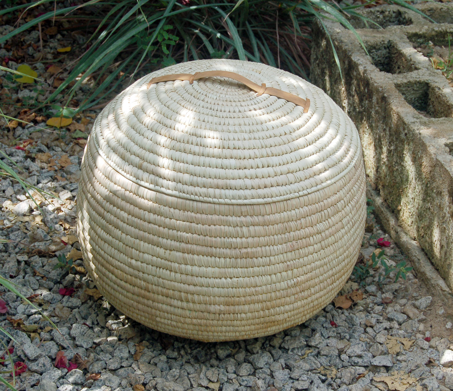 AfriMod Natural #6:  Modern Minimalist – Large Lidded Storage Basket