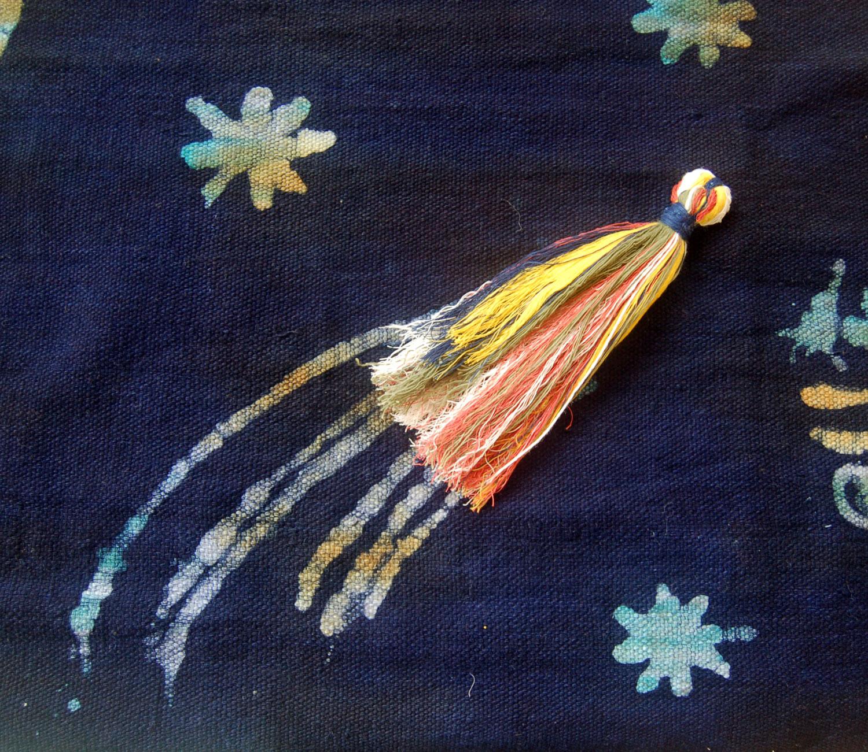 Playful Handspun Handwoven Cotton Throw – Cosmos