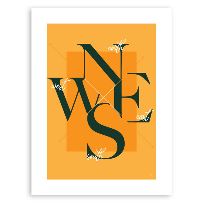 Four Corner Nomad (Summer Days) – North South East West art print
