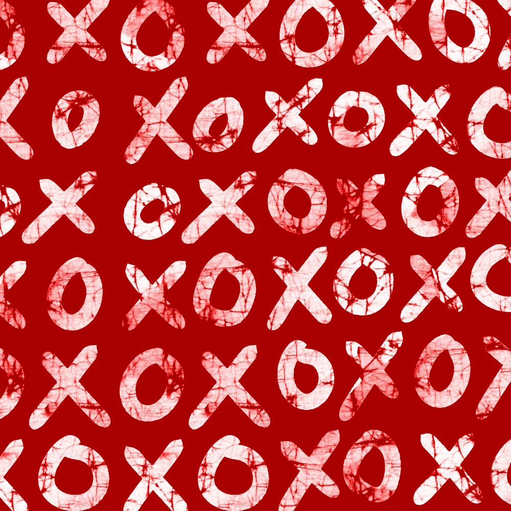 XOXO – Hugs + Kisses in Red