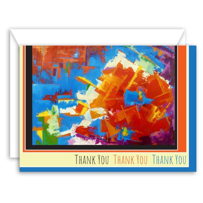 Abstract Art Thank You Card Set – set of 10 cards