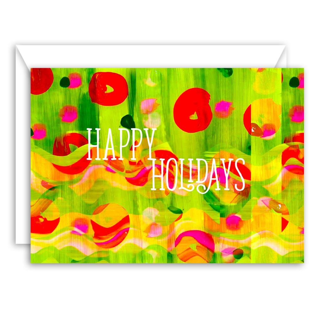 Happy Holidays Greeting Card (Abstract Art)