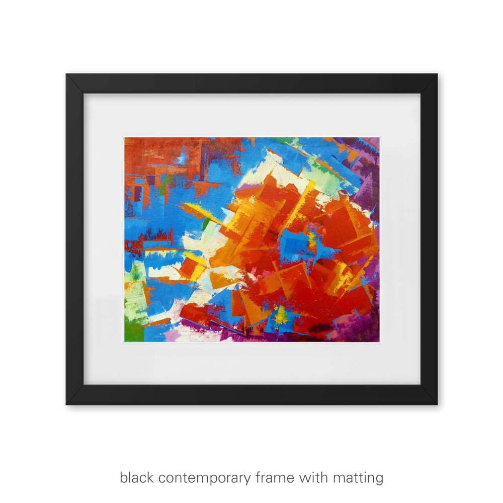 Bold Gaze – colorful abstract art