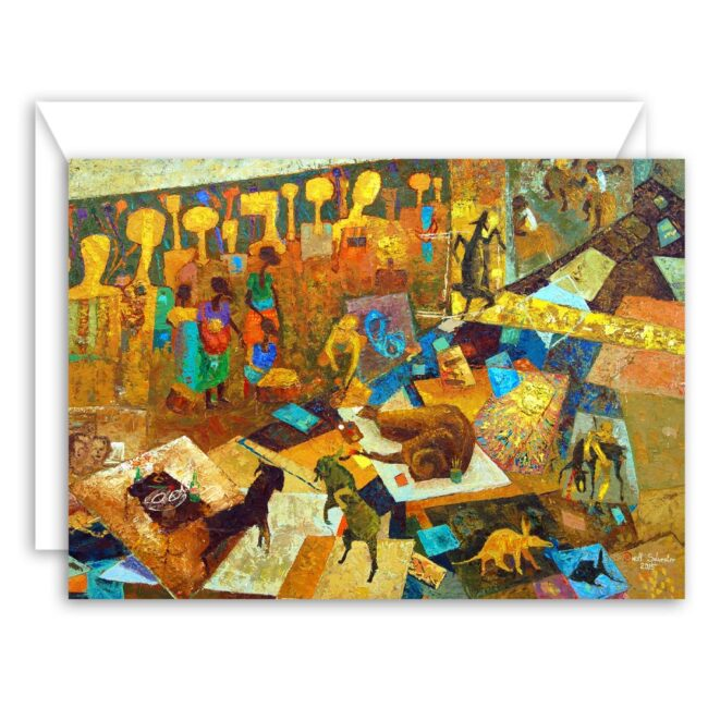 Abstract Art Greeting Card Set (10 blank cards)