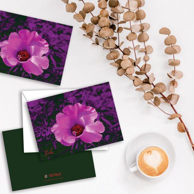 Fuchsia Flora Thank You Card Set (10)
