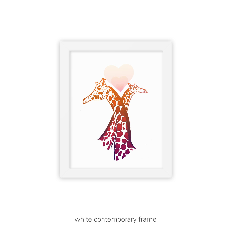 Love Eternal I – Giraffe art print
