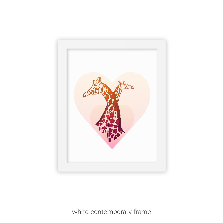 Love Eternal II – Giraffe art print